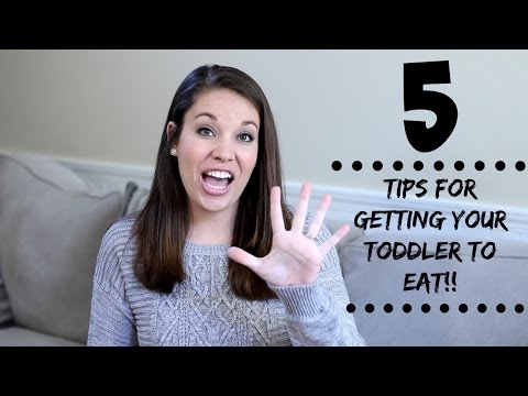 5 TODDLER EATING TIPS!! | How to get your toddler to eat.