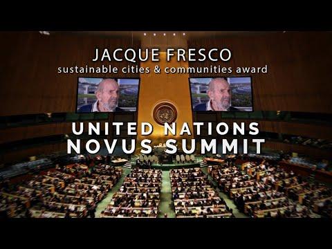 NOVUS Summit at United Nations presents Jacque Fresco award for city design.