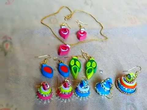Paper Crafts Ideas How To Make Latest Quilling Earrings With You