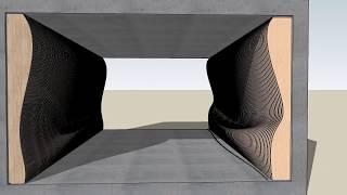 SketchUp Tutorial : parametric wall