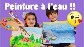 LES WONDERKIDS font de la PEINTURE À L'EAU ! 수채화 그림! Peindre, facile et amusant !