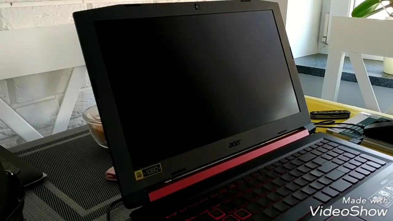 Acer nitro 5 screen goes black