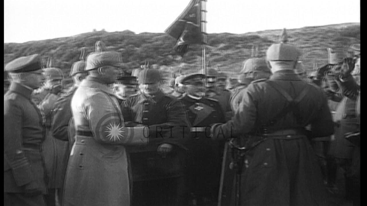 Kaiser Wilhelm Ii Meets Officers And Troops In Germany