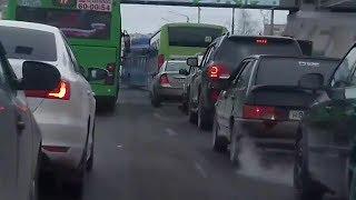 Как автобусы устраивают пробки