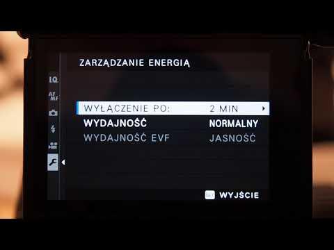 Fujifilm X-Pro3 - Zarządzanie Energia