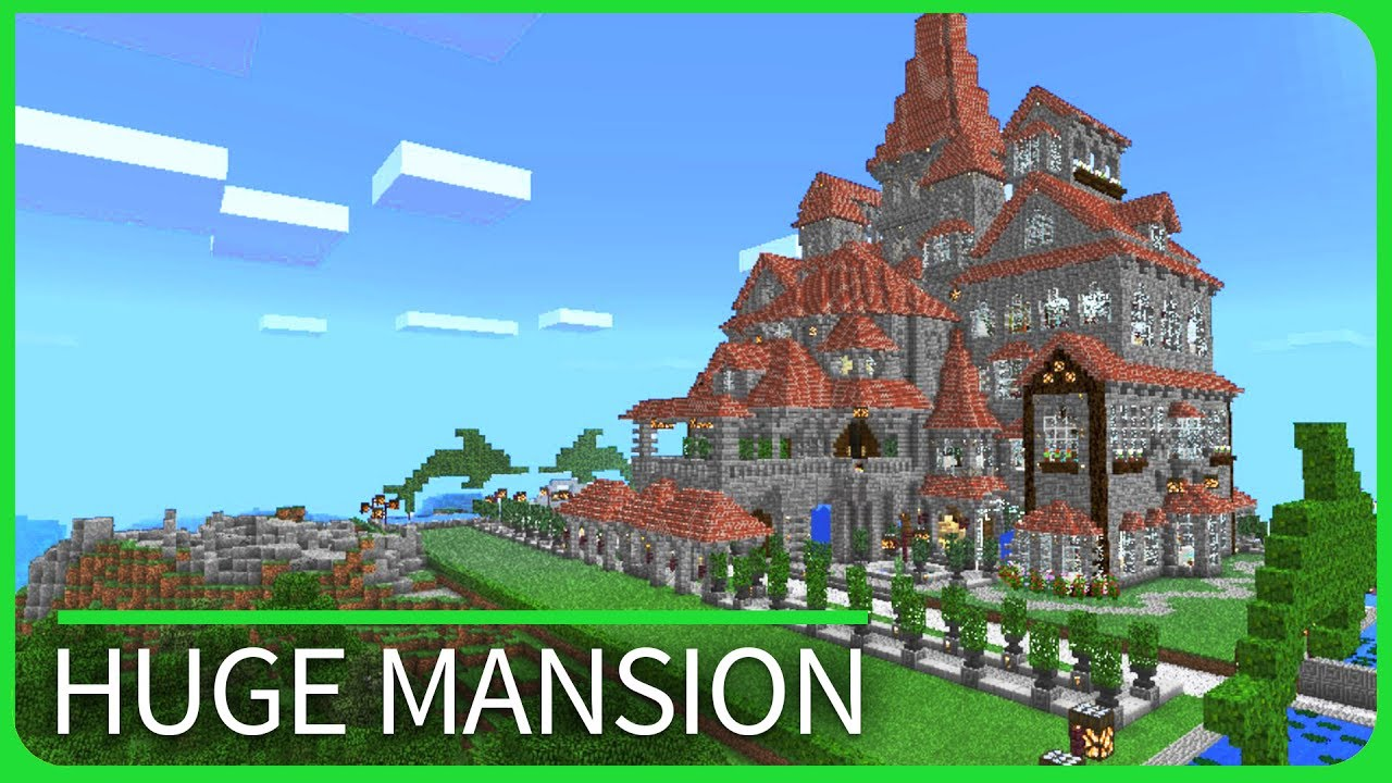 Minecraft PE Maps - Huge MANSION Tour with Download - iOS & Android MCPE  1 1 / 1 1 4
