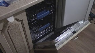 Часть12. Установка, монтаж встраиваемой посудомоечной машины BOSCH. #кухнямоеймечты