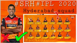#IPL2020 Sunrisers Hyderabad Team | SRH squad IPL 2020 | SRH hyderabad team