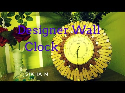 DIY Designer Wall Clock ||Decorative Wall clock ||2018