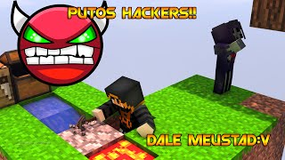 Hackers en Minecraft/partidas fails en skywars con Trollking.