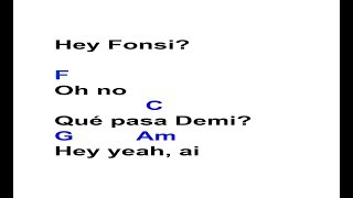 Échame la culpa - Luis Fonsi ft. Demi Lovato   Guitar Chords & Lyrics