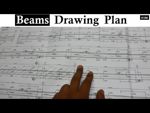How to read Beams different sections drawing plans for the floors