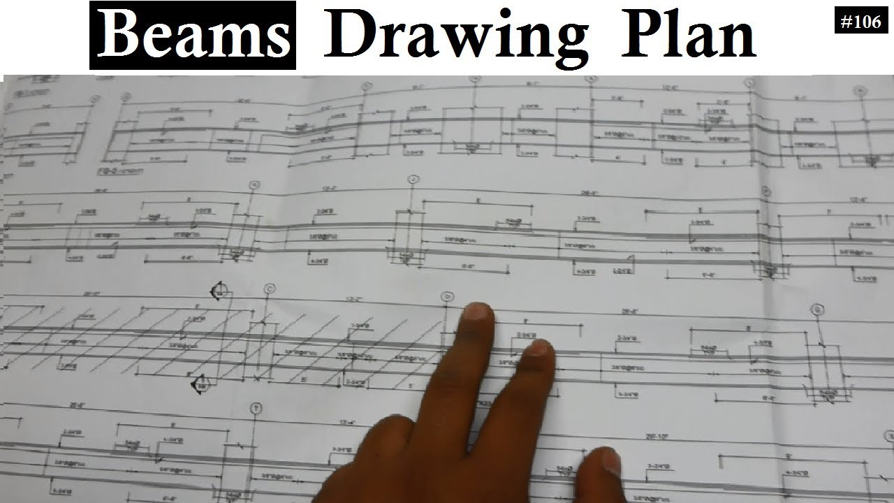 how to read beams different sections drawing plans for the