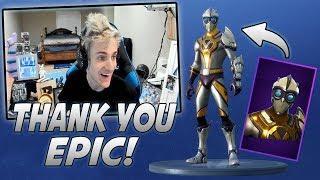 Ninja Reacts To New Venturion Skin And Triumph Glider!