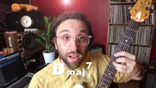 how to play a dmaj7 chord on guitar!