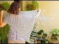 Chal fácil para fiesta tejido a crochet / Tejiendo Perú