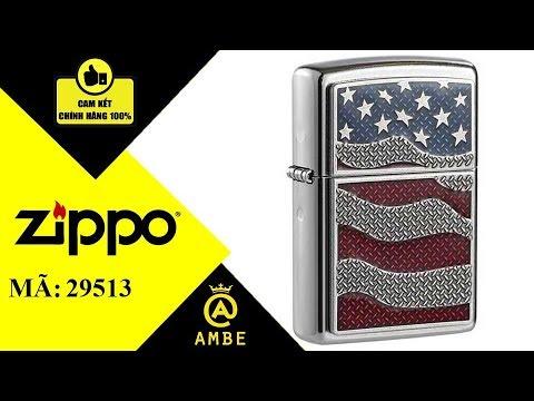 Hộp quẹt Zippo chính hãng Emblem cờ Mỹ 29513 – Ambe.vn