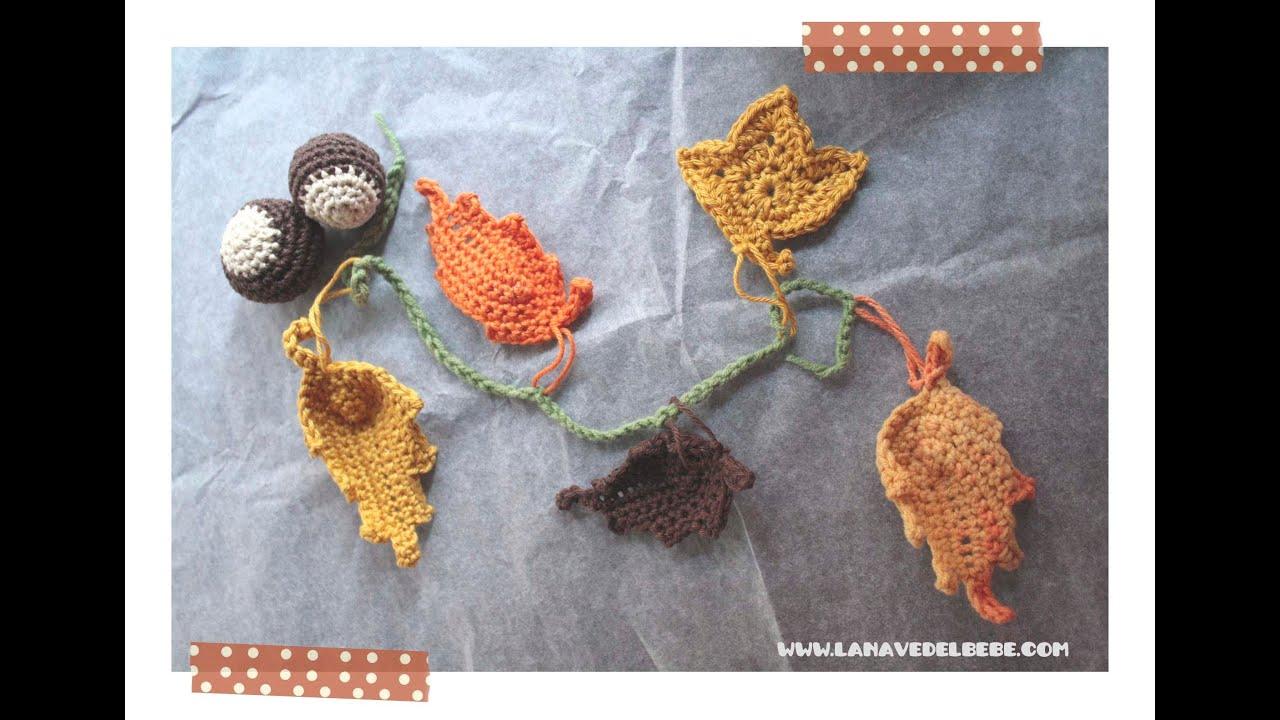 tutorial crochet hoja de ganchillo f cil paso a paso