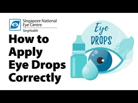 How To Apply Eye Drops Correctly