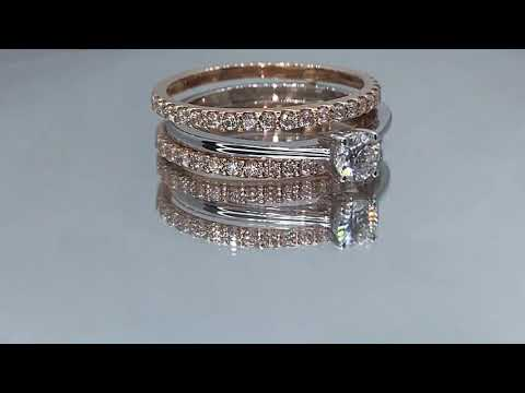 STRASS DIAMONDS SD-1619. Now On Sale At $1,899!! Solitaire Ring Set With 0.30cts Round Brilliant