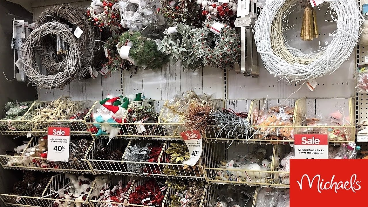 MICHAELS CHRISTMAS DECORATIONS HOME DECOR SNEAK PEAK - SHOP WITH ME  SHOPPING STORE WALK THROUGH 6K