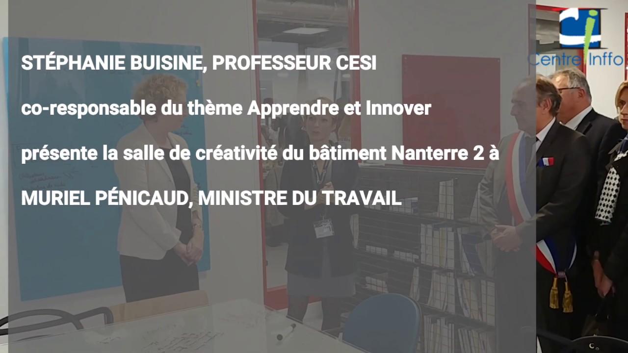 Muriel Pénicaud visite le campus CESI de Nanterre