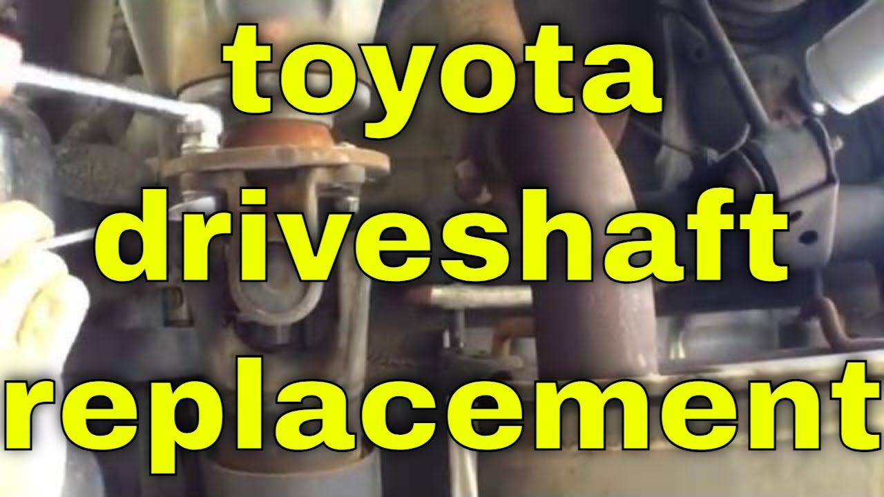 How To Replace Driveshaft Toyota 4runner 2wd Fix It Angel Youtube 1998 Tacoma Alternator Wiring Diagram