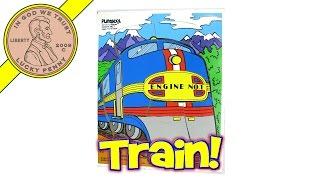 Playskool Train Engine No. 1 1987 #191-01 Wood Frame Tray Puzzle - Stop-motion Animation Fun