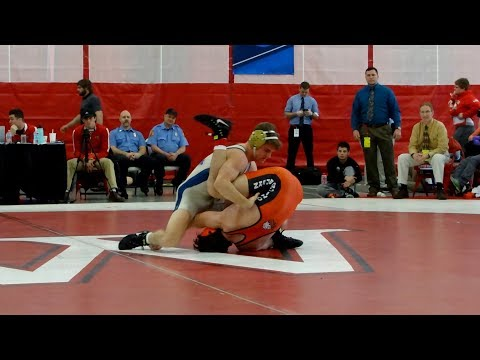 Jarrad Lasko vs Schuyler Capella of Ohio Northern at Regionals 2 23 2018