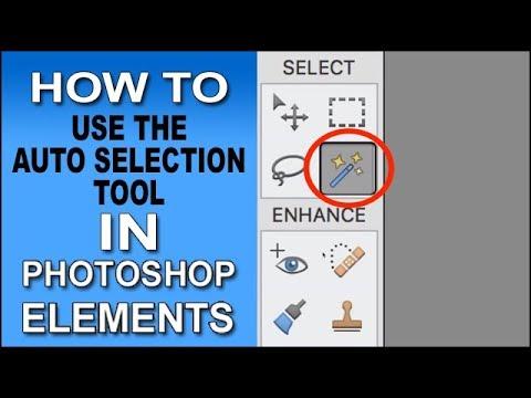 Auto Selection Tool Photoshop Elements 2018