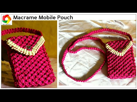 Easy Mobile Pouch| How to make Handmade Mobile Case using Macrame Threads HD|Unique|watch video HD