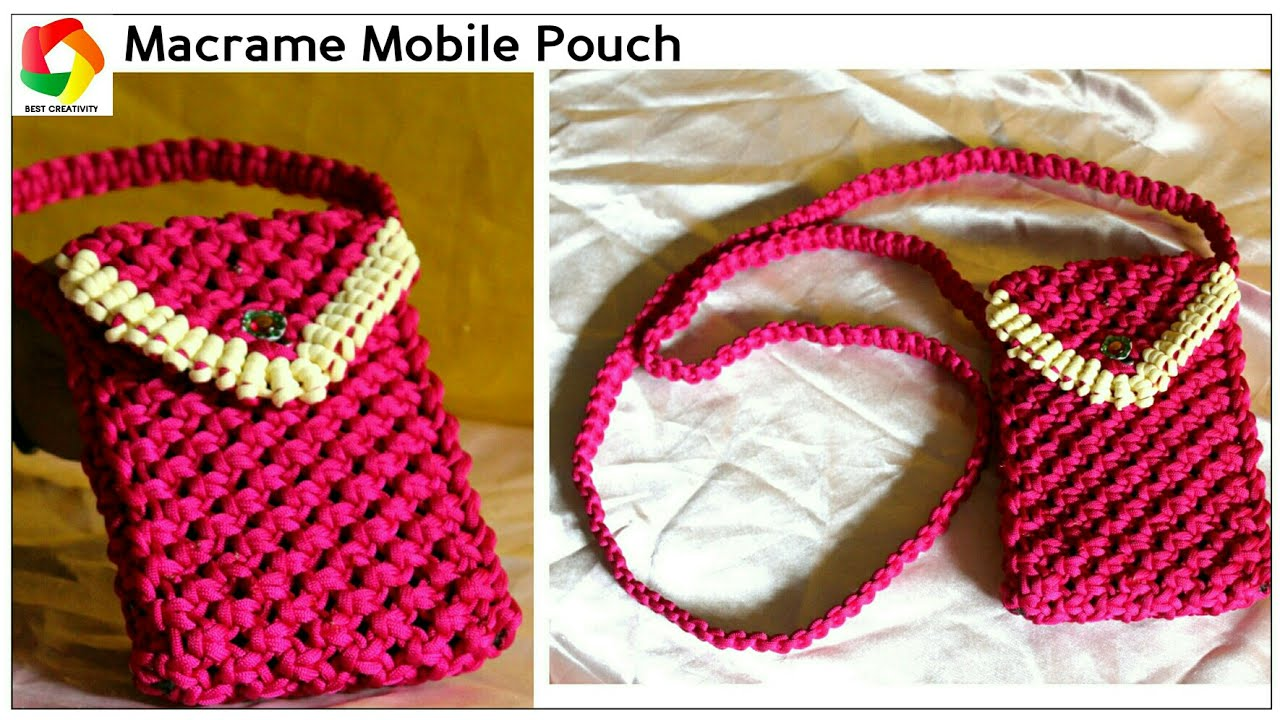 Easy Mobile Pouch How To Make Handmade Mobile Case Using