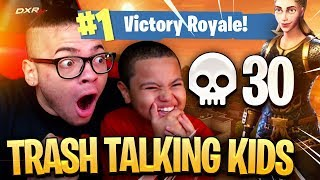 9 YEAR OLD BROTHER AND LITTLE KID SQUEAKER GO AT IT! HAD TO DROP 30 KILLS! FORTNITE BATTLE ROYALE 😱