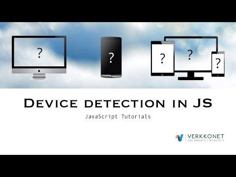 Device Detection In JS | JavaScript Tutorials | Web Development Tutorials