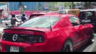 Dubai Luxury Car On The Roads Of Hyderabad City