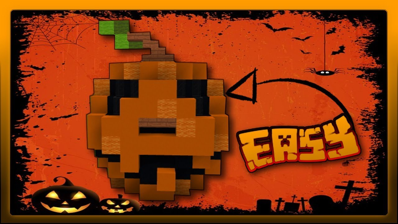 Minecraft Halloween Kürbis Easy Als Dekoration Gedacht Youtube