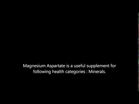 Magnesium Aspartate health benefits