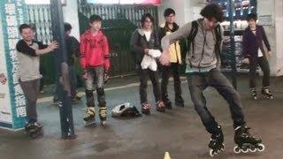 seba and hk roller team skating in hong kong part 2