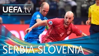Futsal EURO highlights: Serbia score five against Slovenia