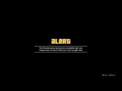 GTA 5 - Rockstar Services Down! (GTA 5 Online)