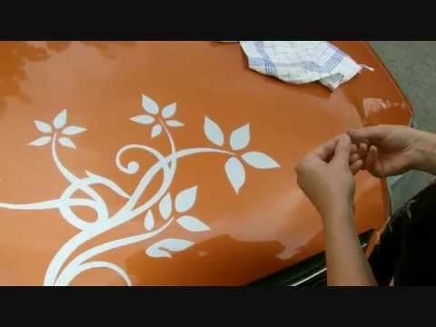 auto sticker aufkleben autoaufkleber anbringen beschreibung anleitung youtube. Black Bedroom Furniture Sets. Home Design Ideas