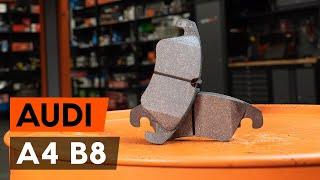 Se en videoguide om hvordan du skifte AUDI A4 (8K2, B8) Bremsebelegg