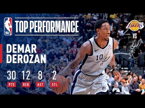 DeMar DeRozan Drops A Near Triple Double On The Los Angeles Lakers | October 27, 2018