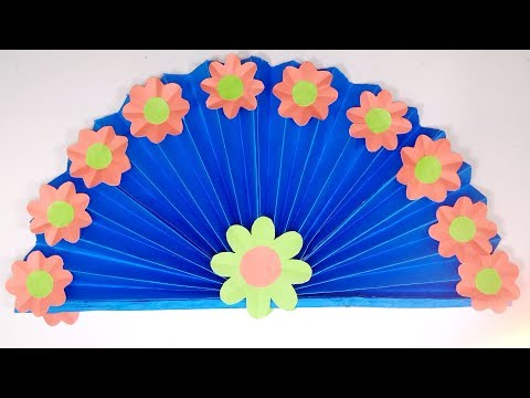 DIY Paper Craft | How to Make Beautiful Paper Decorative Hand Fan | Jarine's Crafty Creation
