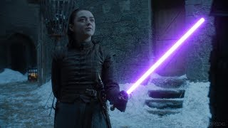 Arya vs Brienne Lightsaber Duel | Game of Thrones + Star Wars
