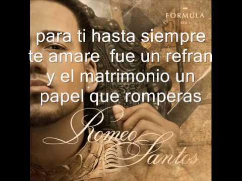 Romeo Llevame Contigo Con Letra