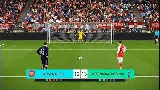 PES 2018 | ARSENAL vs TOTTENHAM | Penalty Shootout | Gameplay PC