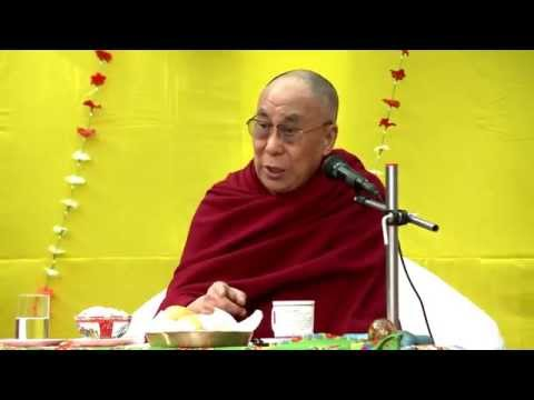 His Holiness the Dalai Lama in Zanskar lamdon Model High school 2014-06-25 tibetan video HD