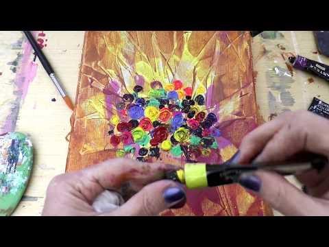 Букет объемных 3D цветов, Акрил. 3D Flowers In Acrylic
