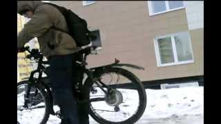Электровелосипед зимой - всё в поряде!!!500W   48V 8Ah